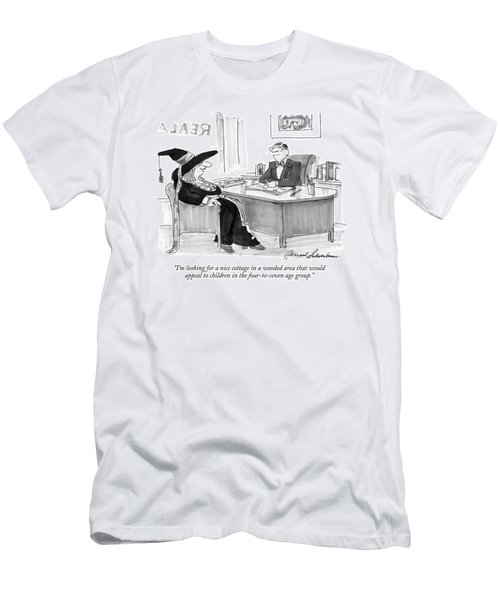 I'm Looking For A Nice Cottage In A Wooded Area Men's T-Shirt (Athletic Fit)
