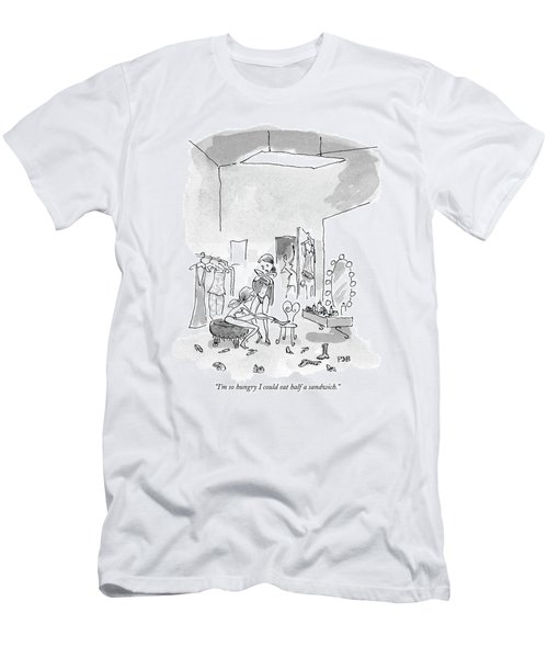 I'm So Hungry I Could Eat Half A Sandwich Men's T-Shirt (Athletic Fit)