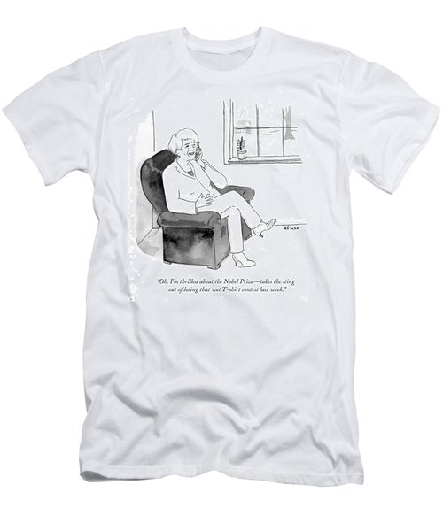 I'm Thrilled About The Nobel Prize Men's T-Shirt (Athletic Fit)
