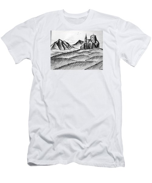 Men's T-Shirt (Slim Fit) featuring the painting Imagination by Salman Ravish