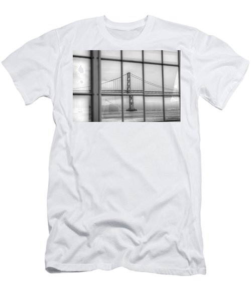 in a window the Bay Bridge Men's T-Shirt (Athletic Fit)