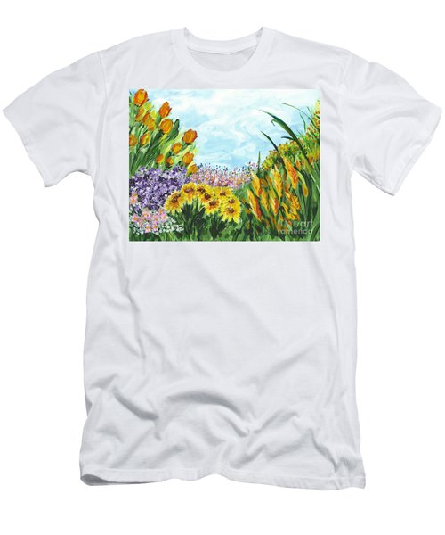 In My Garden Men's T-Shirt (Slim Fit) by Holly Carmichael
