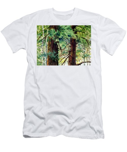 Men's T-Shirt (Slim Fit) featuring the painting In The Canopy by Donald Maier