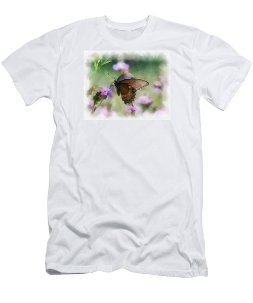Men's T-Shirt (Slim Fit) featuring the photograph In The Flowers by Kerri Farley