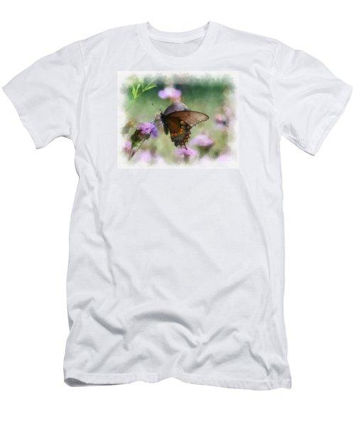 In The Flowers Men's T-Shirt (Slim Fit) by Kerri Farley