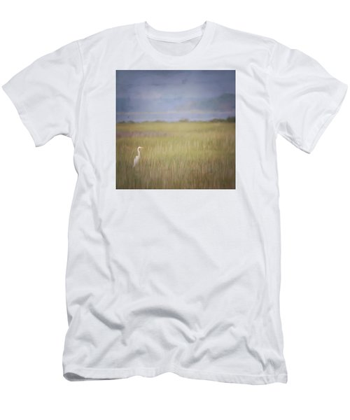 Men's T-Shirt (Slim Fit) featuring the photograph In The Marsh  by Kerri Farley