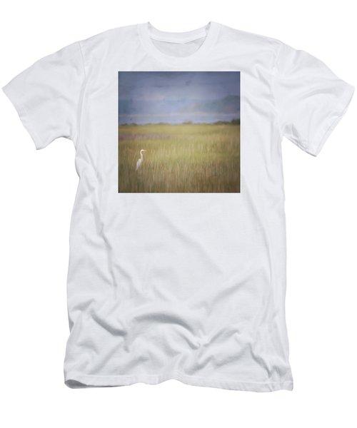 In The Marsh  Men's T-Shirt (Slim Fit) by Kerri Farley
