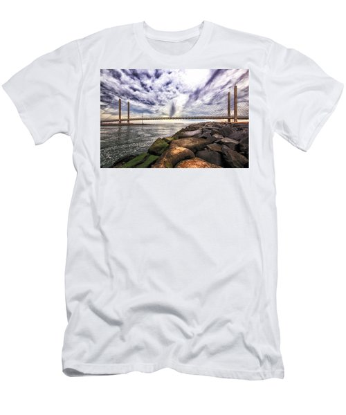 Indian River Bridge Clouds Men's T-Shirt (Athletic Fit)