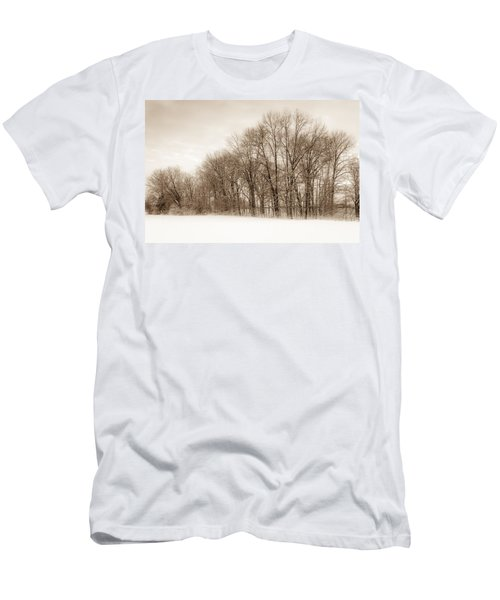 Indiana Winter At Freedom Park - Horizontal Men's T-Shirt (Athletic Fit)
