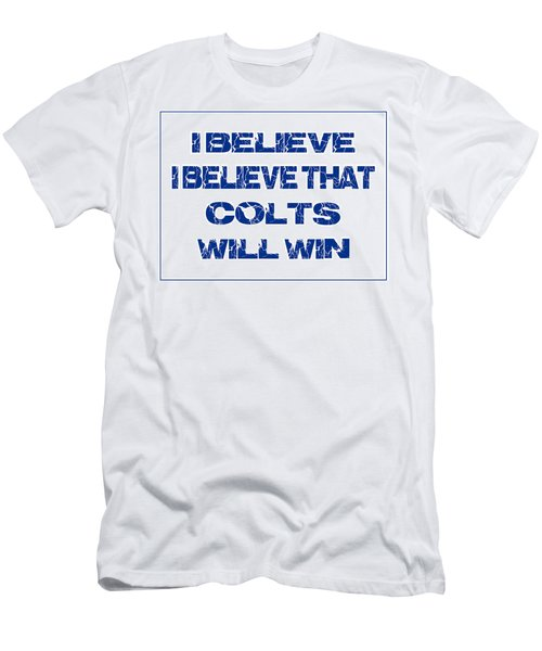 Indianapolis Colts I Believe Men's T-Shirt (Athletic Fit)