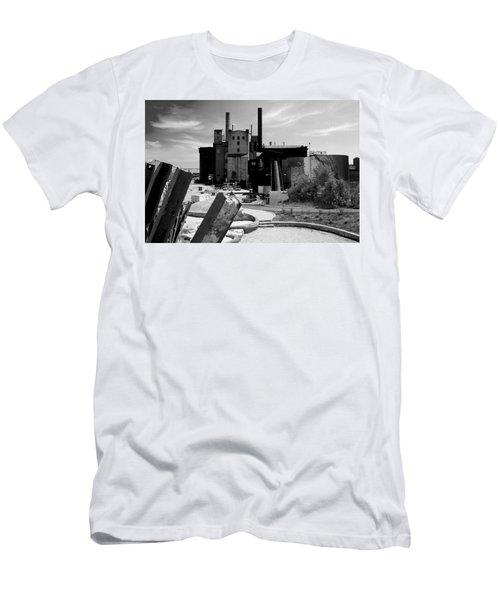 Industrial Power Plant Landscape Smokestacks Men's T-Shirt (Athletic Fit)