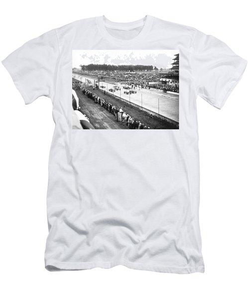Indy 500 Auto Race Men's T-Shirt (Athletic Fit)
