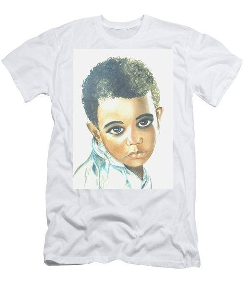 Men's T-Shirt (Slim Fit) featuring the painting Innocent Sorrow by Sophia Schmierer