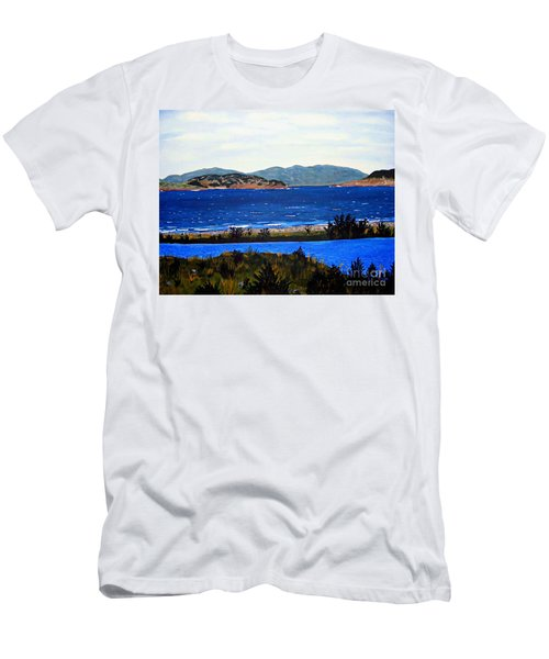 Iona Formerly Rams Islands Men's T-Shirt (Slim Fit) by Barbara Griffin