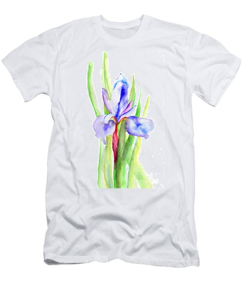 Iris Flowers Men's T-Shirt (Athletic Fit)
