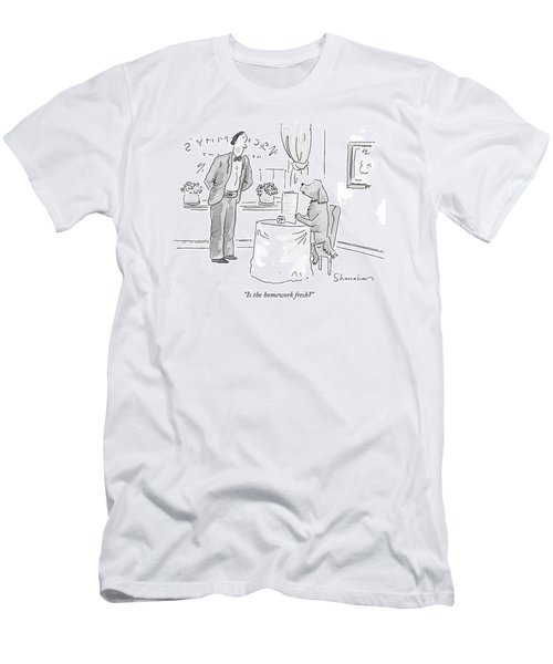 Is The Homework Fresh? Men's T-Shirt (Athletic Fit)