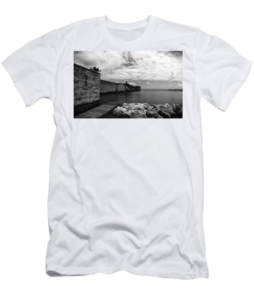 Island Fortress  Men's T-Shirt (Athletic Fit)