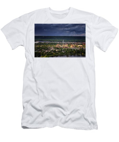 Island In The Storm Men's T-Shirt (Athletic Fit)