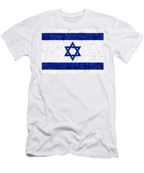 Israel Star Of David Flag Batik Men's T-Shirt (Athletic Fit)