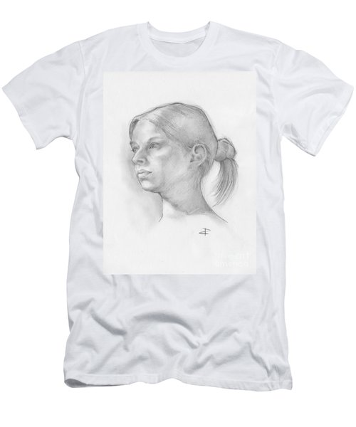 Men's T-Shirt (Slim Fit) featuring the drawing Issabell by Paul Davenport