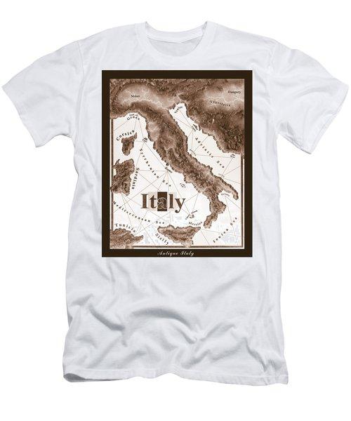 Italian Map Men's T-Shirt (Athletic Fit)