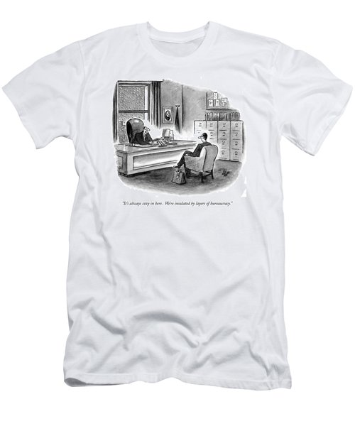 It's Always Cozy In Here.  We're Insulated Men's T-Shirt (Athletic Fit)