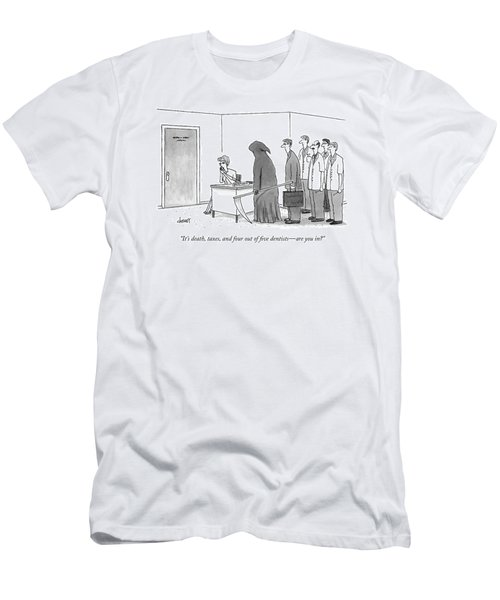 It's Death, Taxes, And Four Out Of Five Dentists Men's T-Shirt (Athletic Fit)