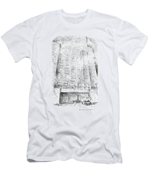 It's Good To Get Home! Men's T-Shirt (Athletic Fit)