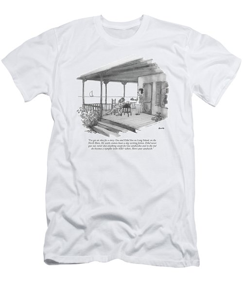 I've Got An Idea For A Story: Gus And Ethel Live Men's T-Shirt (Athletic Fit)