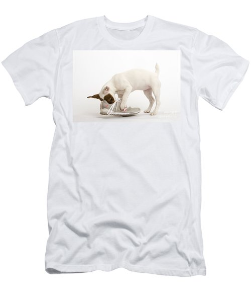 Jack Russell With Sneaker Men's T-Shirt (Athletic Fit)