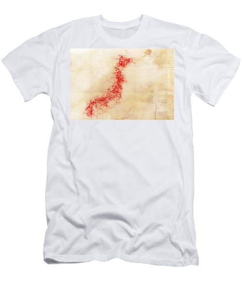 Japan Watercolor Map Men's T-Shirt (Athletic Fit)