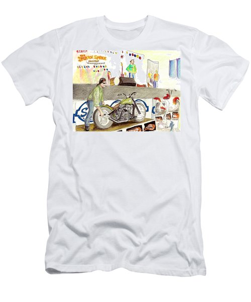 Jay Allen At The Broken Spoke Saloon Men's T-Shirt (Athletic Fit)