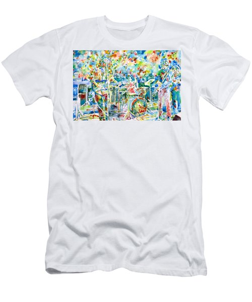 Jerry Garcia And The Grateful Dead Live Concert - Watercolor Portrait Men's T-Shirt (Athletic Fit)