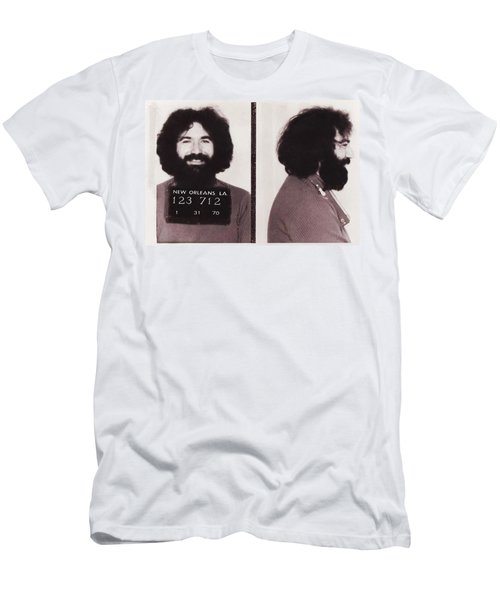Jerry Garcia Mugshot Men's T-Shirt (Athletic Fit)