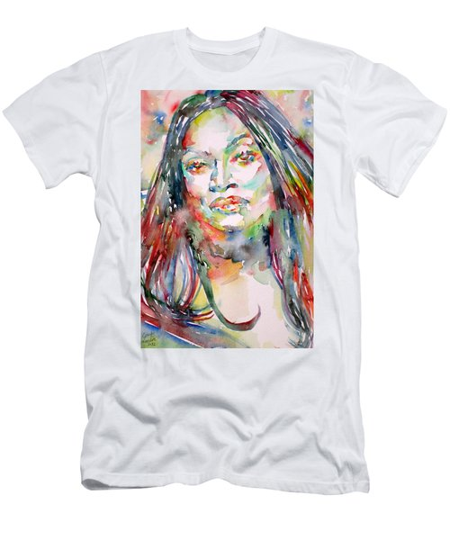 Jessye Norman - Watercolor Portrait Men's T-Shirt (Athletic Fit)