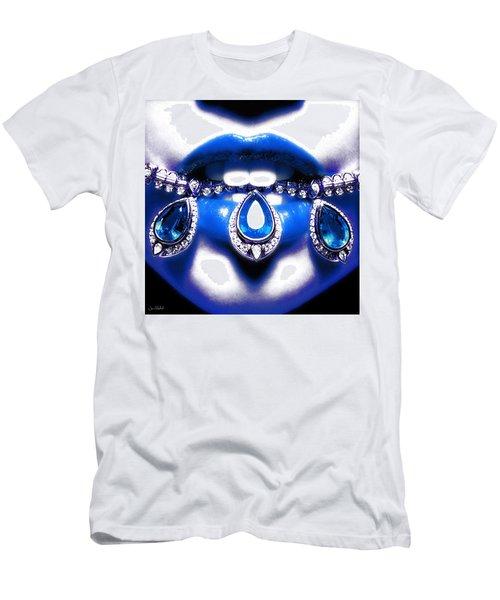 Jewelips Soft Blue Men's T-Shirt (Athletic Fit)