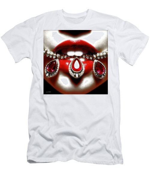 Jewelips Soft Red Men's T-Shirt (Athletic Fit)
