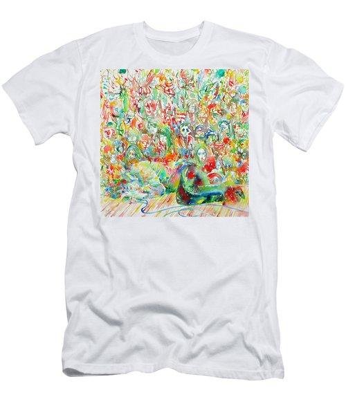 Jim Morrison Live On Stage.2 Men's T-Shirt (Athletic Fit)