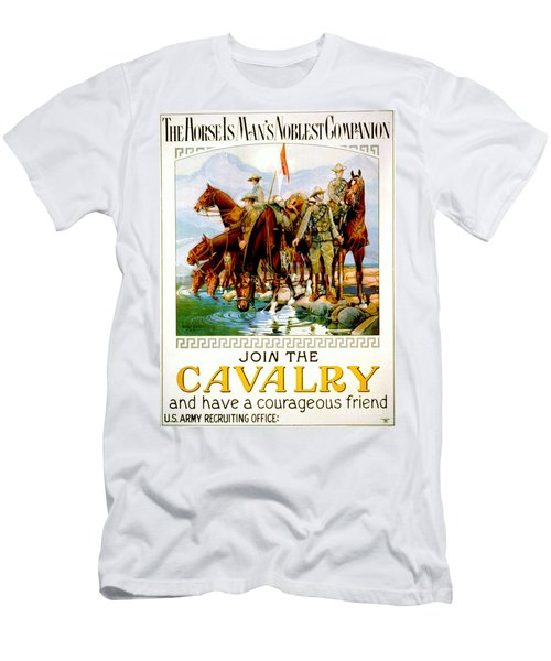Join The Cavalry 1920 Men's T-Shirt (Slim Fit) by Padre Art