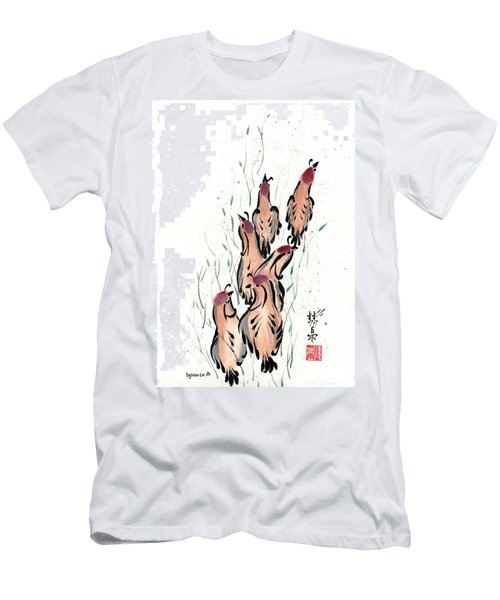 Men's T-Shirt (Slim Fit) featuring the painting Joyful Excursion by Bill Searle