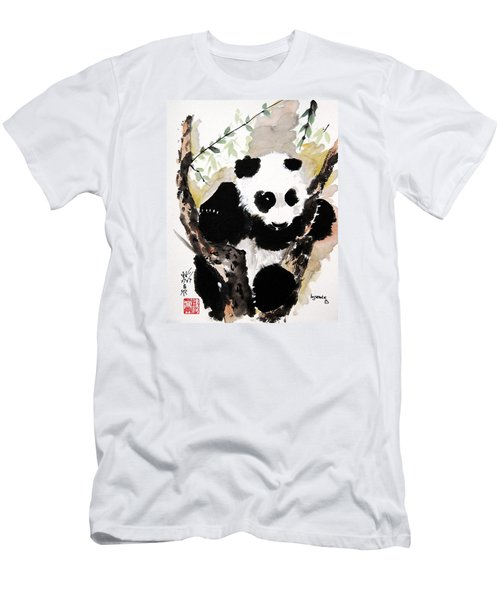 Men's T-Shirt (Slim Fit) featuring the painting Joyful Innocence by Bill Searle