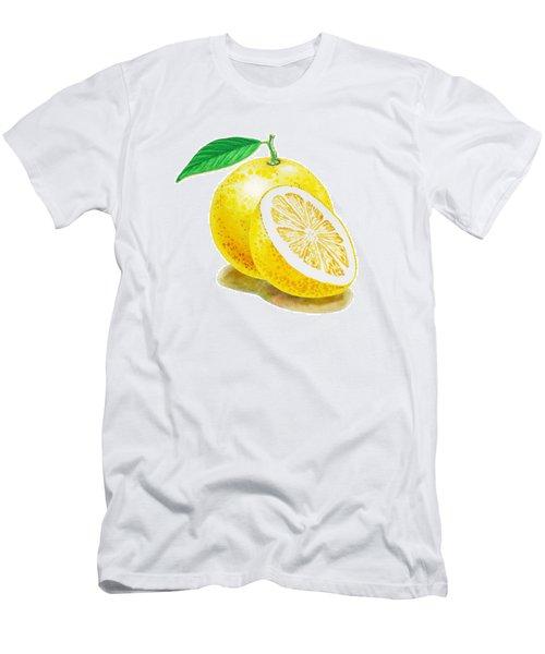 Men's T-Shirt (Slim Fit) featuring the painting Juicy Grapefruit by Irina Sztukowski