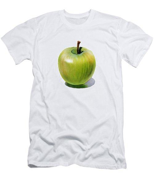 Men's T-Shirt (Slim Fit) featuring the painting Juicy Green Apple by Irina Sztukowski