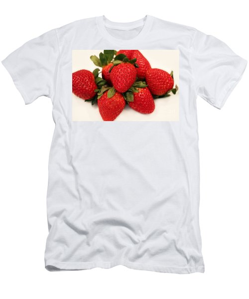 Juicy Strawberries Men's T-Shirt (Slim Fit) by Barbara Griffin