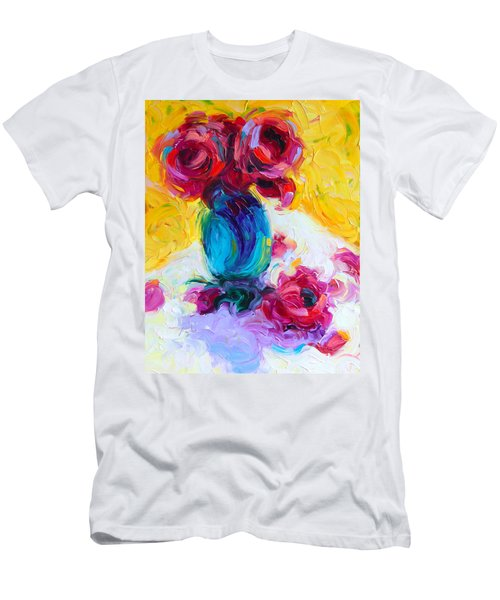 Just Past Bloom - Roses Still Life Men's T-Shirt (Athletic Fit)