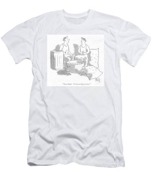 Just Think! We're In Italy At Last Men's T-Shirt (Slim Fit)