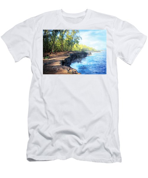 Kaloli Point Hawaii Men's T-Shirt (Slim Fit) by Ellen Cotton