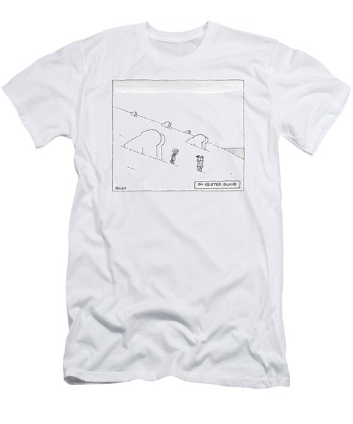 Keister Island -- Statues Of Butts Instead Men's T-Shirt (Athletic Fit)