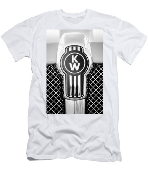 Kenworth Truck Emblem -1196bw Men's T-Shirt (Athletic Fit)