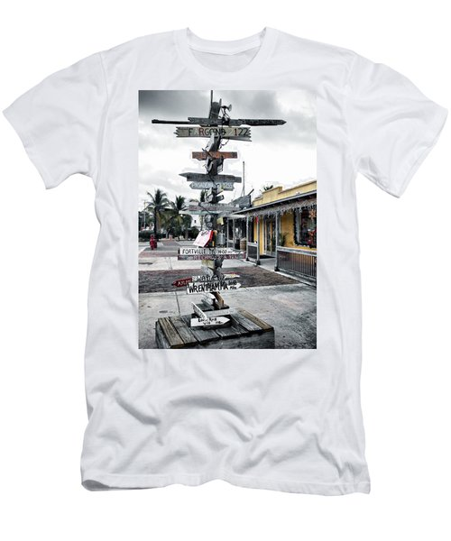Key West Wharf Men's T-Shirt (Athletic Fit)